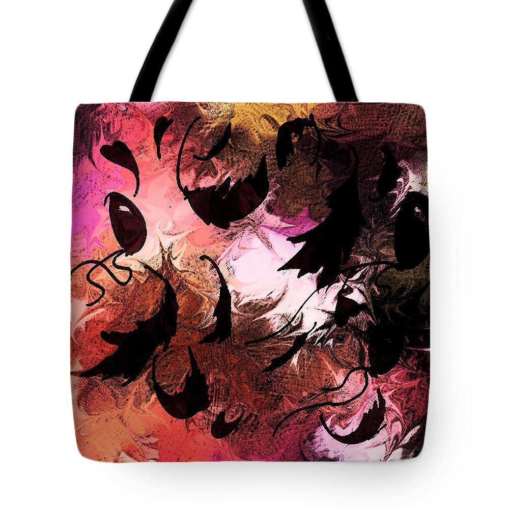 Abstract Tote Bag featuring the digital art Love Affair by Rachel Christine Nowicki