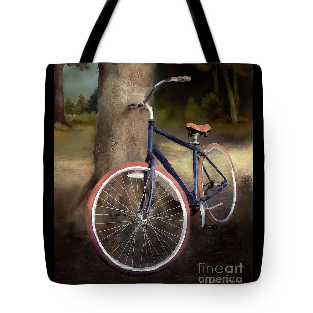 Bicycle Tote Bag featuring the digital art Love And Happiness by Dwayne Glapion