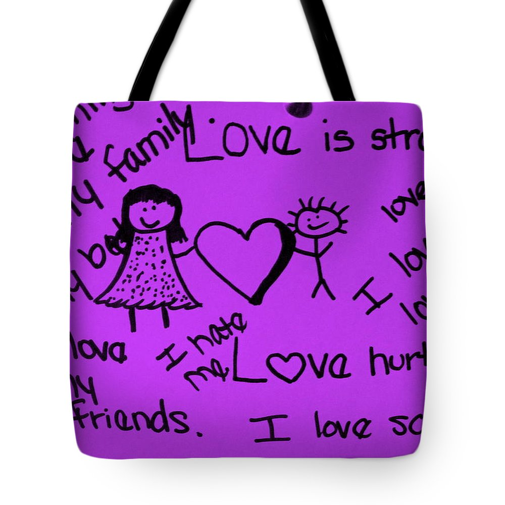 Still Life Tote Bag featuring the photograph Love by Ed Smith