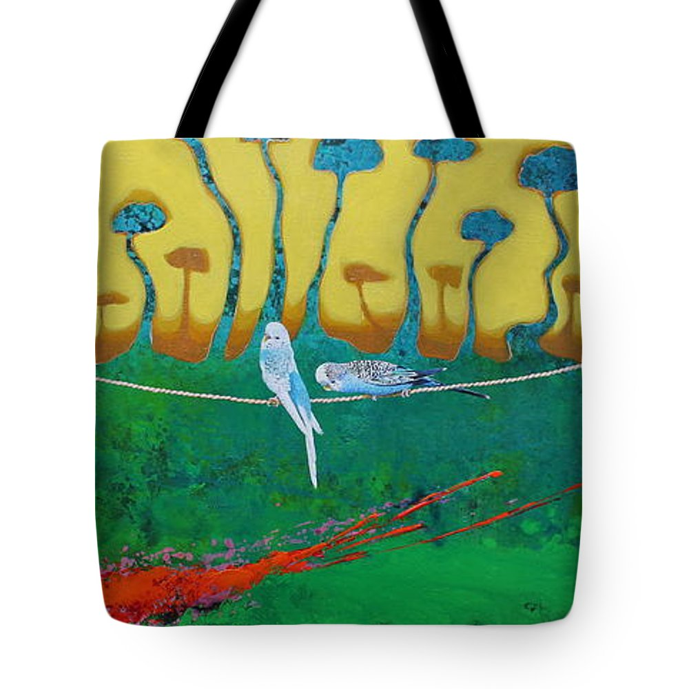 Tote Bag featuring the painting Love For Ever by Leys Magallon