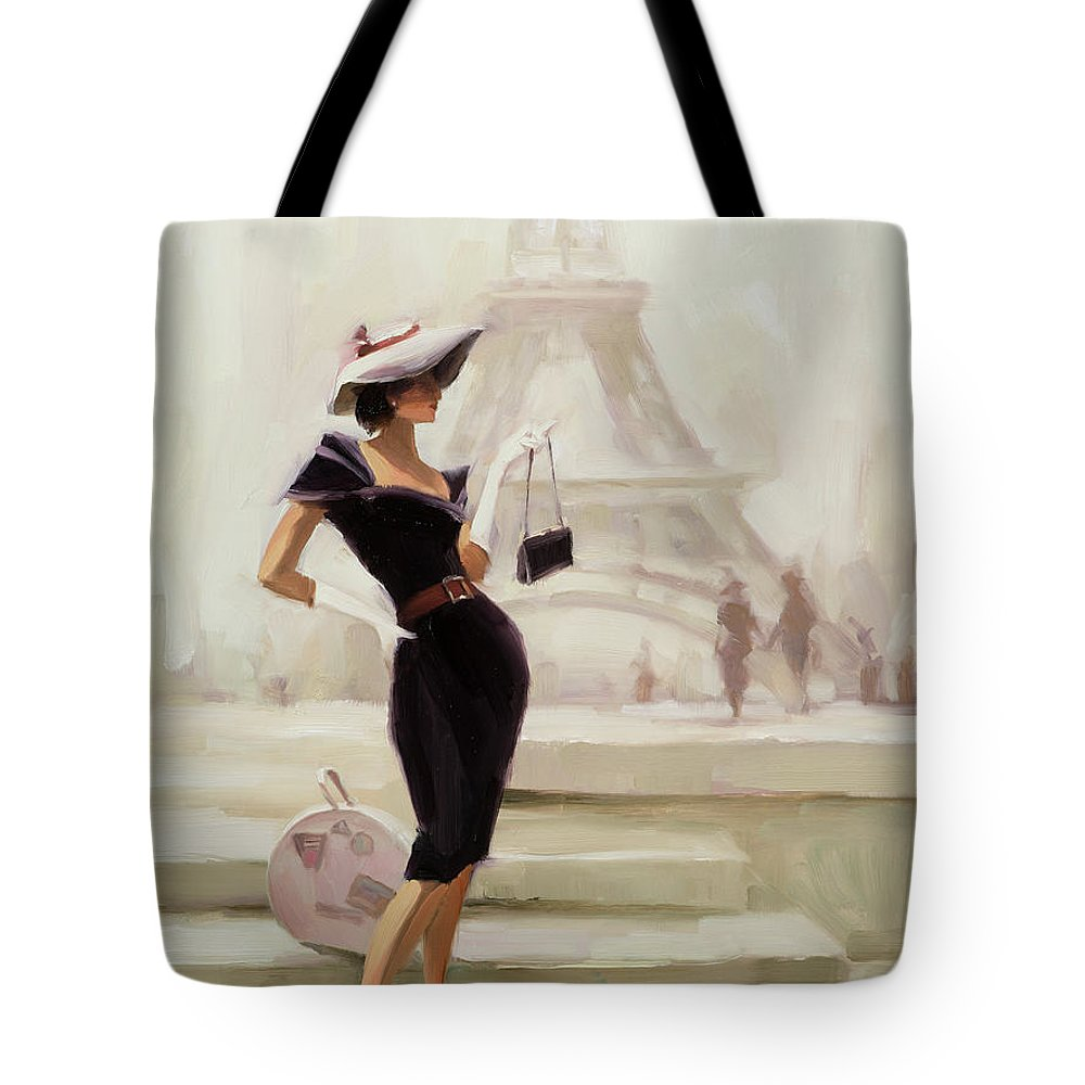 Paris Tote Bag featuring the painting Love, from Paris by Steve Henderson