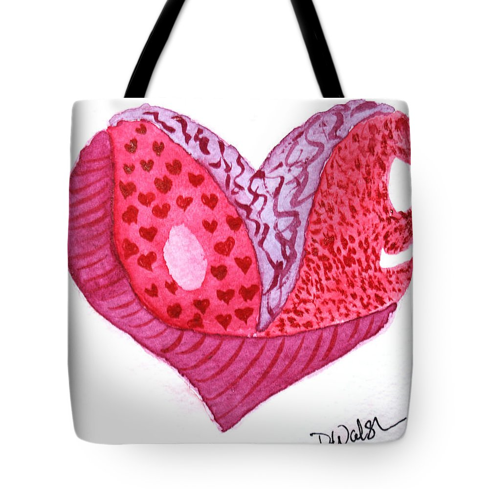 Love Tote Bag featuring the painting Love Heart by Donna Walsh
