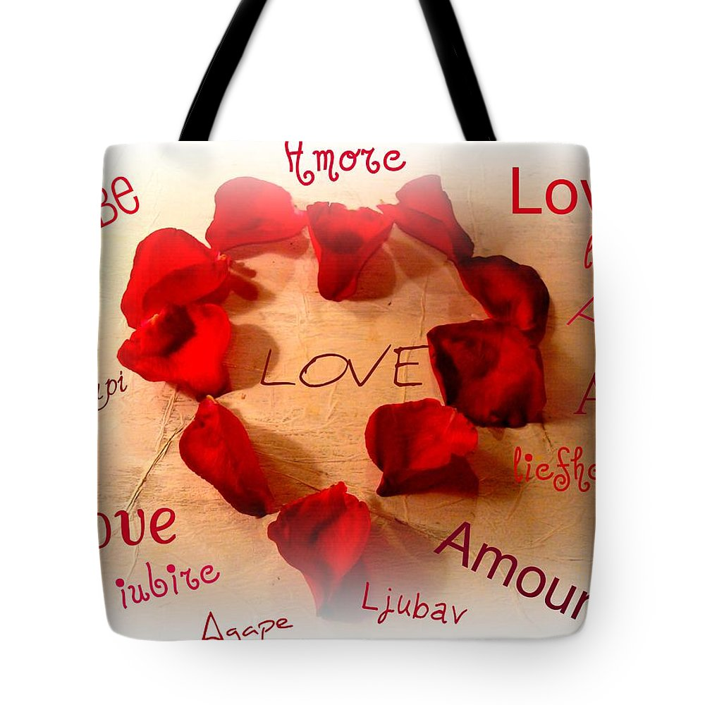 Love Tote Bag featuring the photograph Love In Any Language by Kathy Bucari