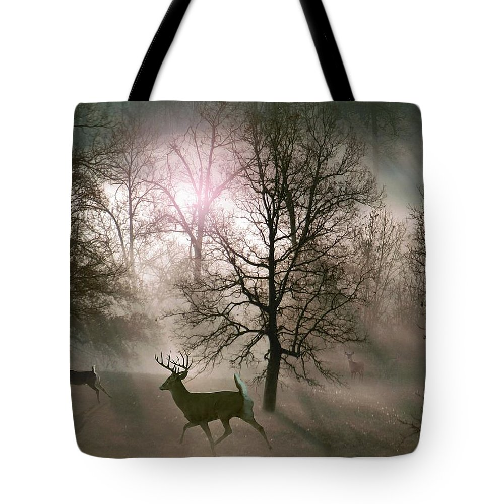 Wildlife Tote Bag featuring the digital art Love In The Wild by Bill Stephens