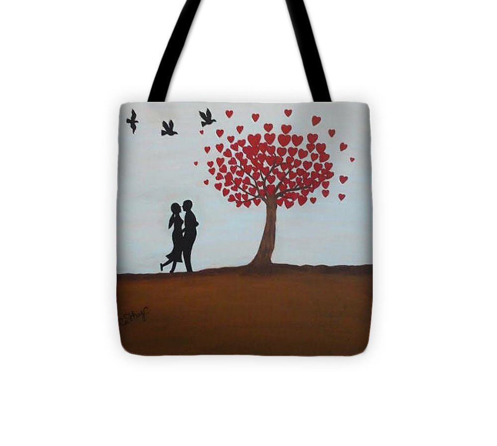 Tree Tote Bag featuring the painting Love Is All You Need by Catherine Velardo