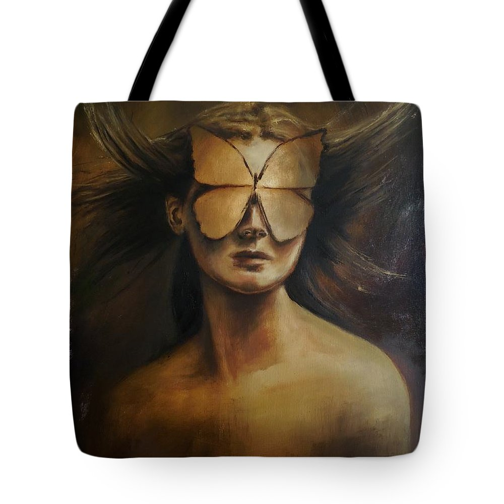 Love Tote Bag featuring the painting Love Is Blindness. by Tatiana Siedlova