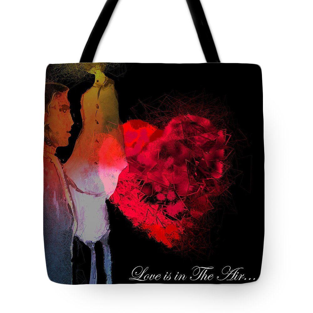 Love Tote Bag featuring the painting Love Is In The Air by Miki De Goodaboom