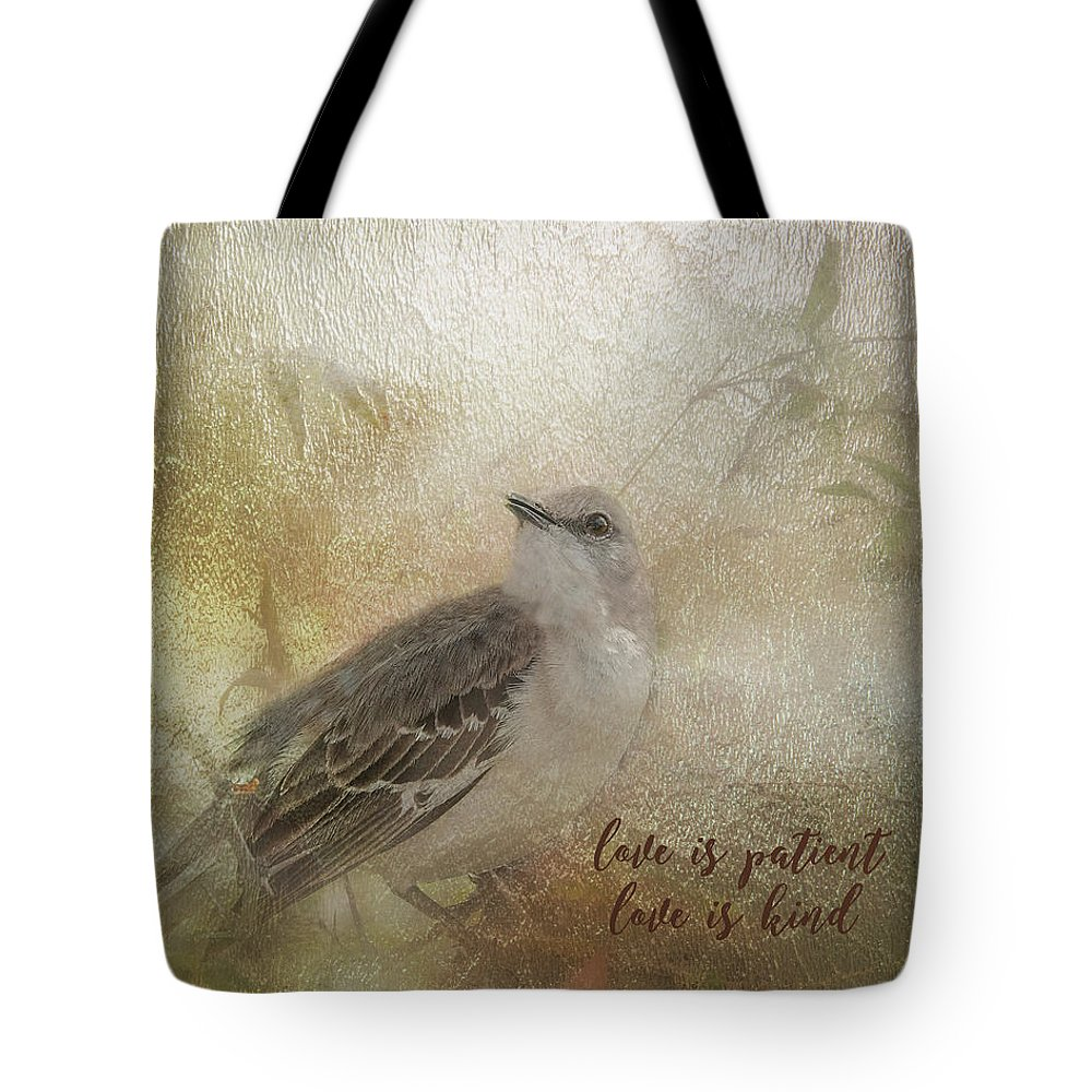 Love Tote Bag featuring the digital art Love Is Patient by Ramona Murdock