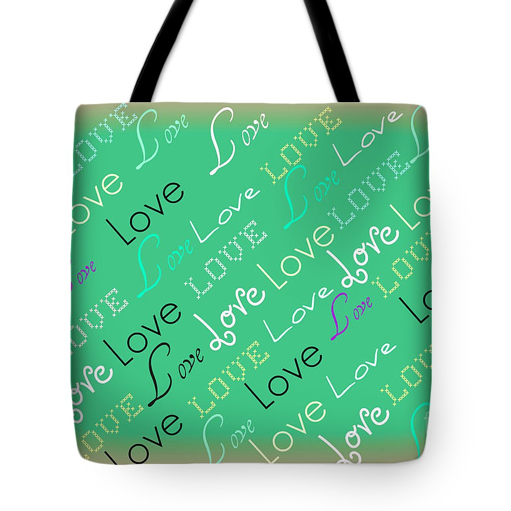 Love Tote Bag featuring the digital art Love Letters by Donna Bentley