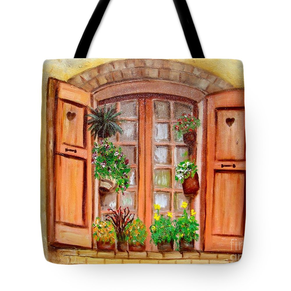 Windows Tote Bag featuring the painting Love Nest by Laurie Morgan