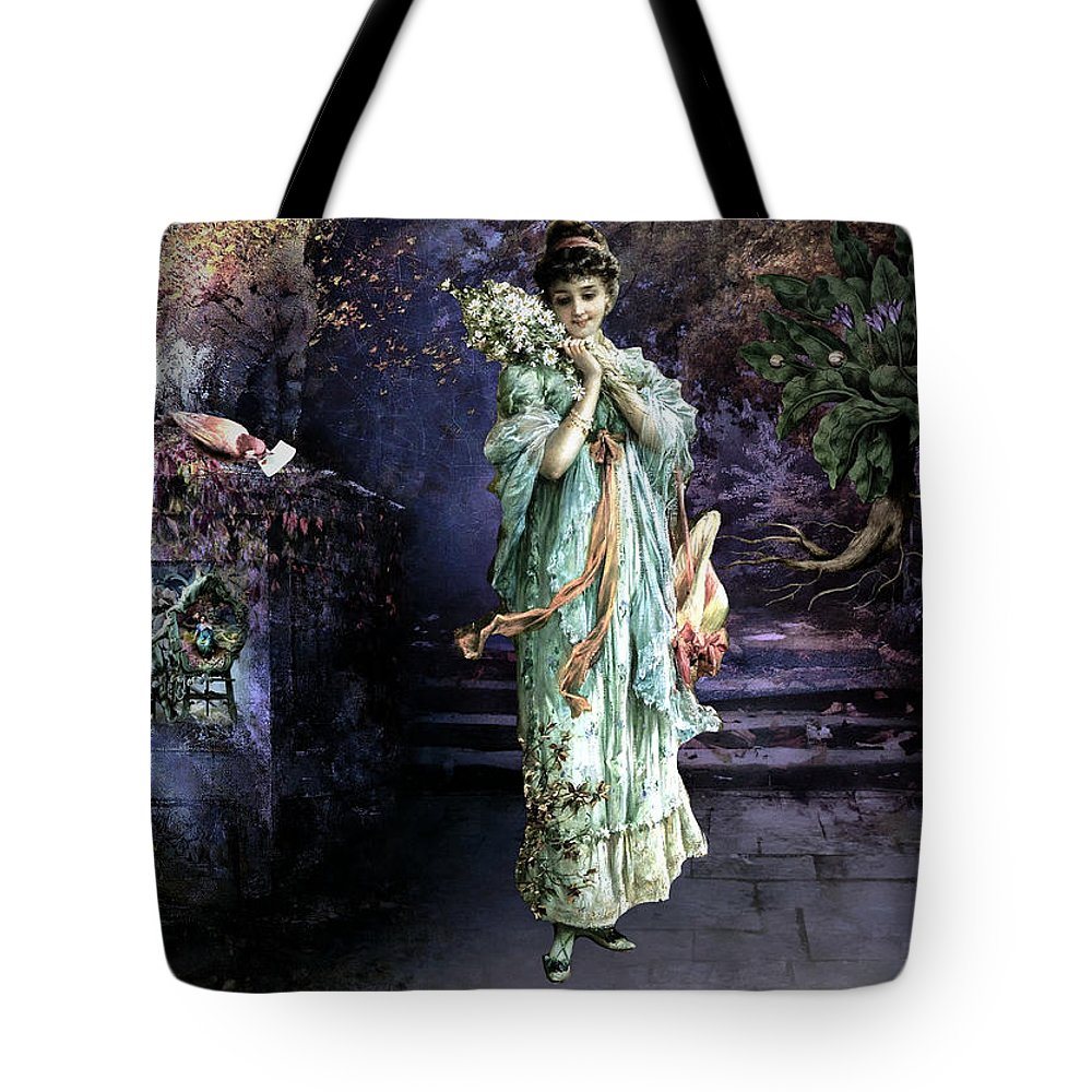 Women Tote Bag featuring the painting Love Note by Laura Botsford