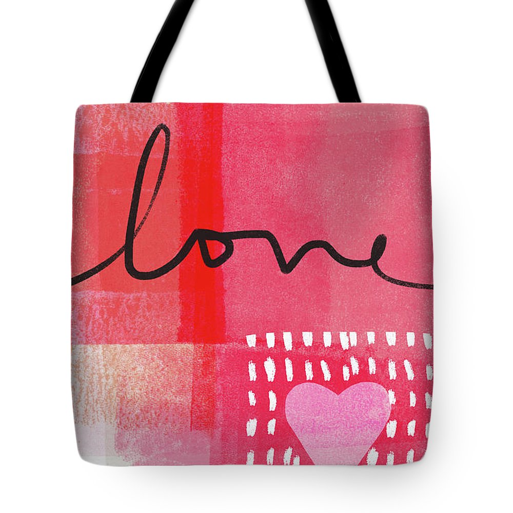 Love Tote Bag featuring the mixed media Love Notes- Art By Linda Woods by Linda Woods