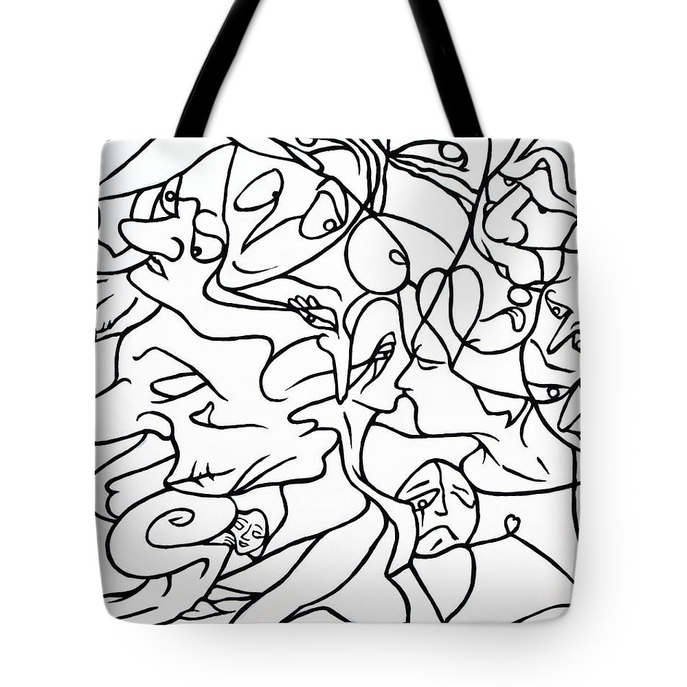 Love Tote Bag featuring the painting Love Potion by Judy Henninger