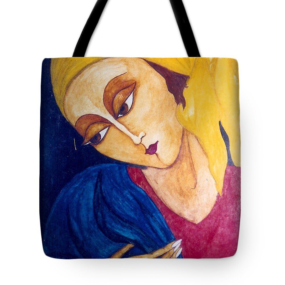 Original Art Tote Bag featuring the painting Love by Rae Chichilnitsky