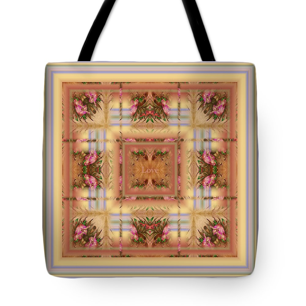 Love Tote Bag featuring the digital art Love by RiaL Treasures