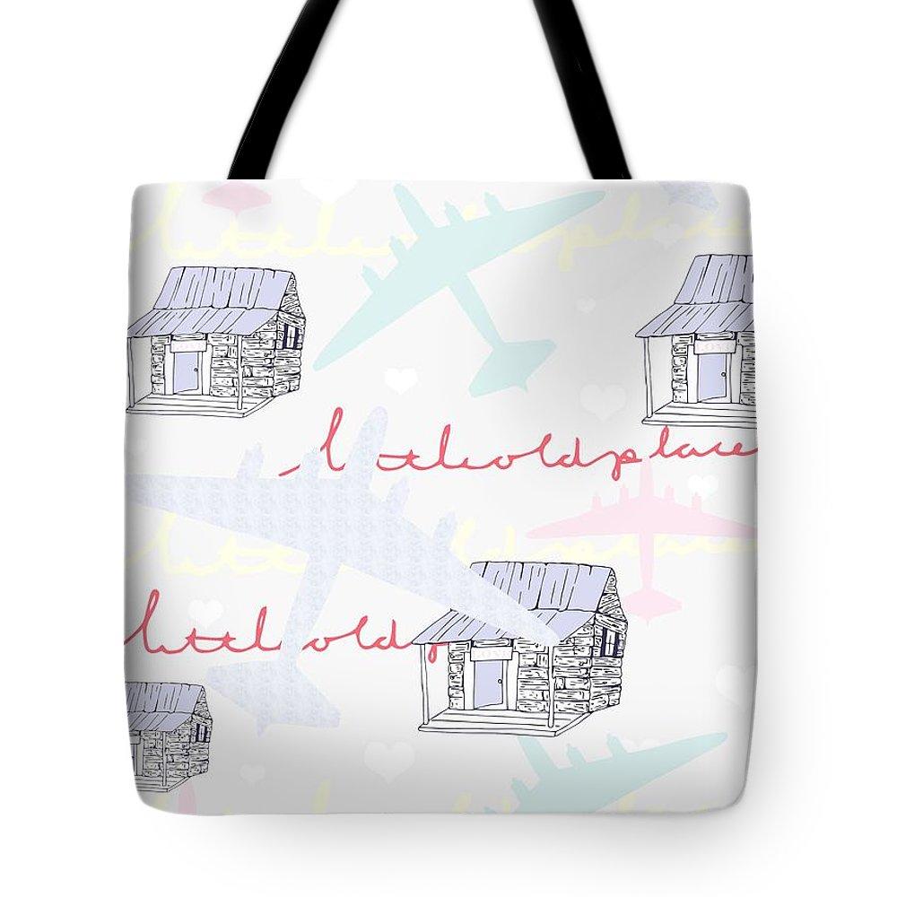 Repeat Digital Art Tote Bags