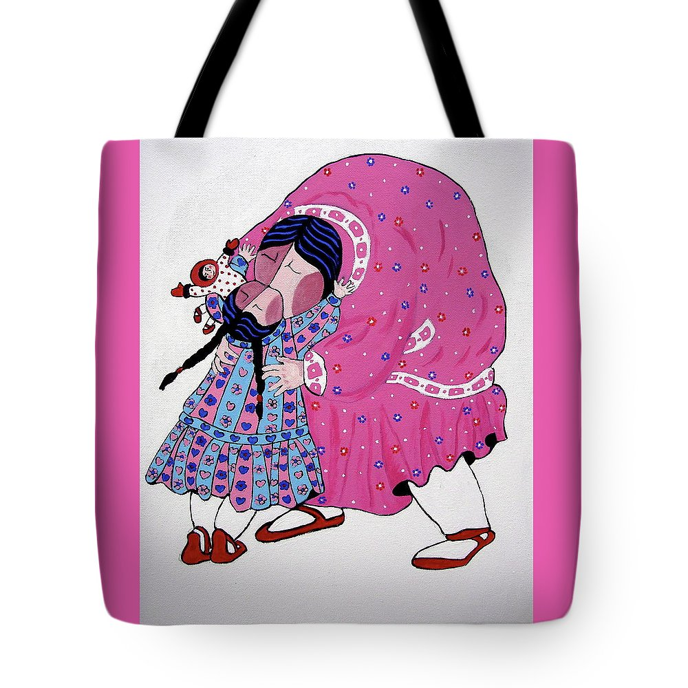 Mother Tote Bag featuring the painting Love by Stephanie Moore