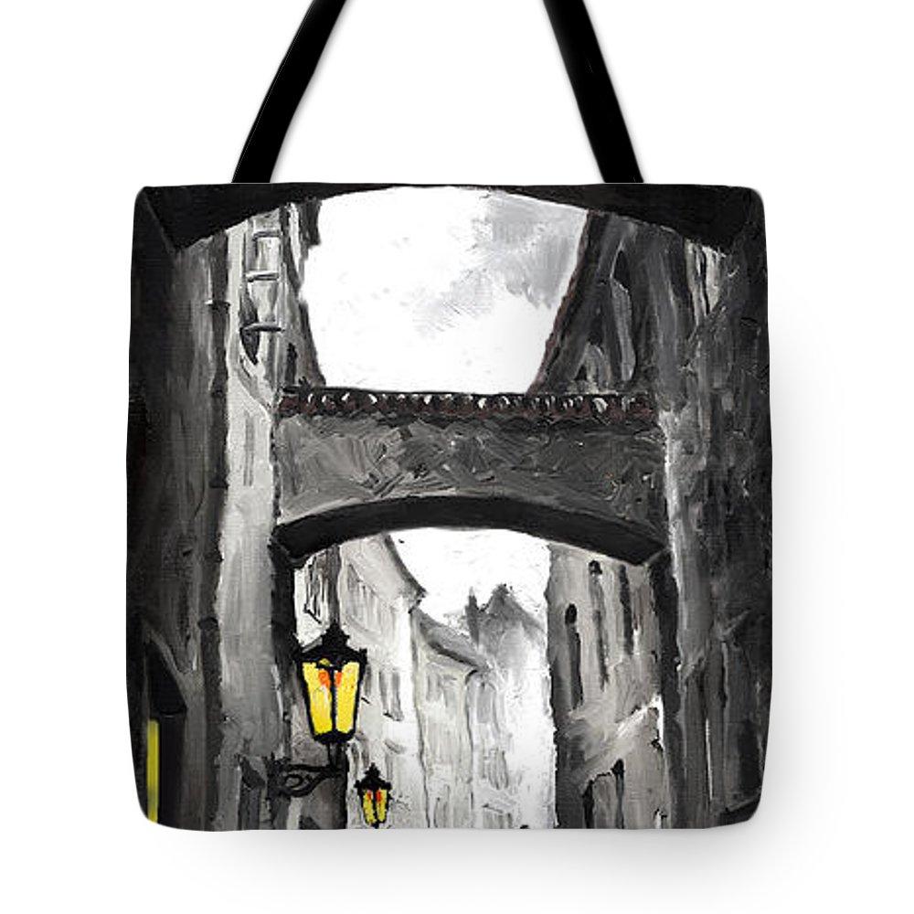 Black Tote Bag featuring the digital art Love Story by Yuriy Shevchuk