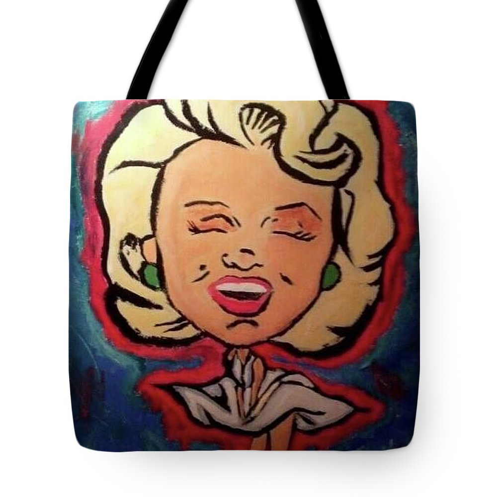 Marilyn Monroe Tote Bag featuring the painting Loved By You by Daniel Donnelly