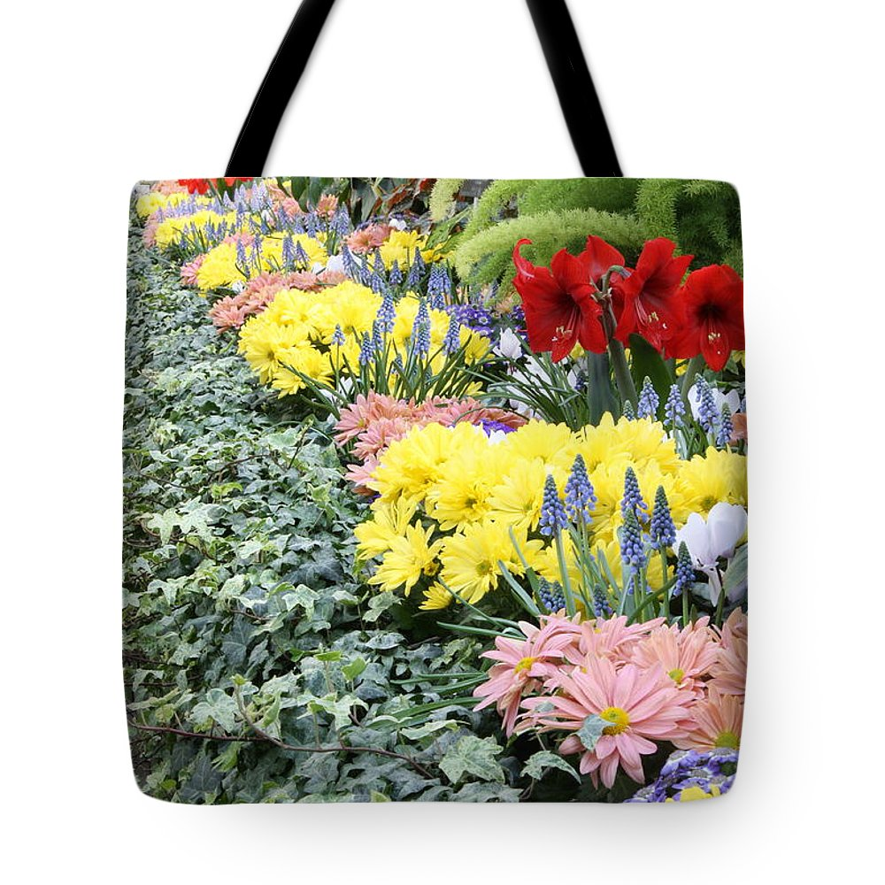 Manito Park Tote Bag featuring the photograph Lovely Flowers In Manito Park Conservatory by Carol Groenen