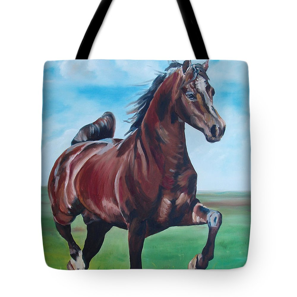 Horse Tote Bag featuring the painting Lovely by Gina De Gorna