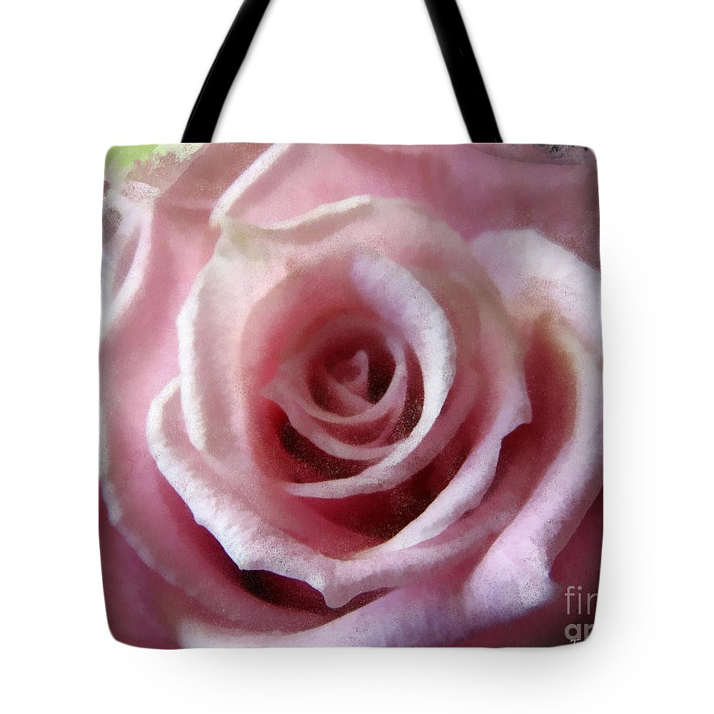 Macro Tote Bag featuring the digital art Lovely In Pink by Todd Blanchard