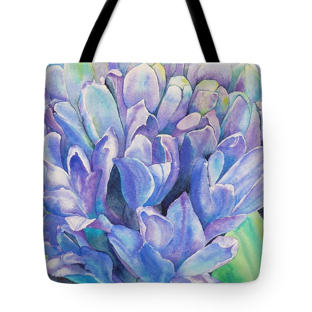 Flower Tote Bag featuring the painting Lovely Lupine by Ruth Kamenev