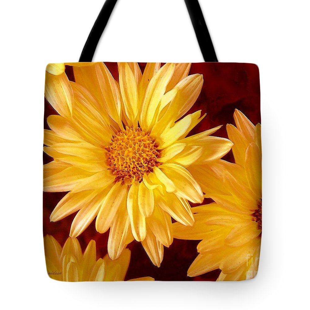 Flowers Tote Bag featuring the photograph Lovely Mums by Patricia L Davidson