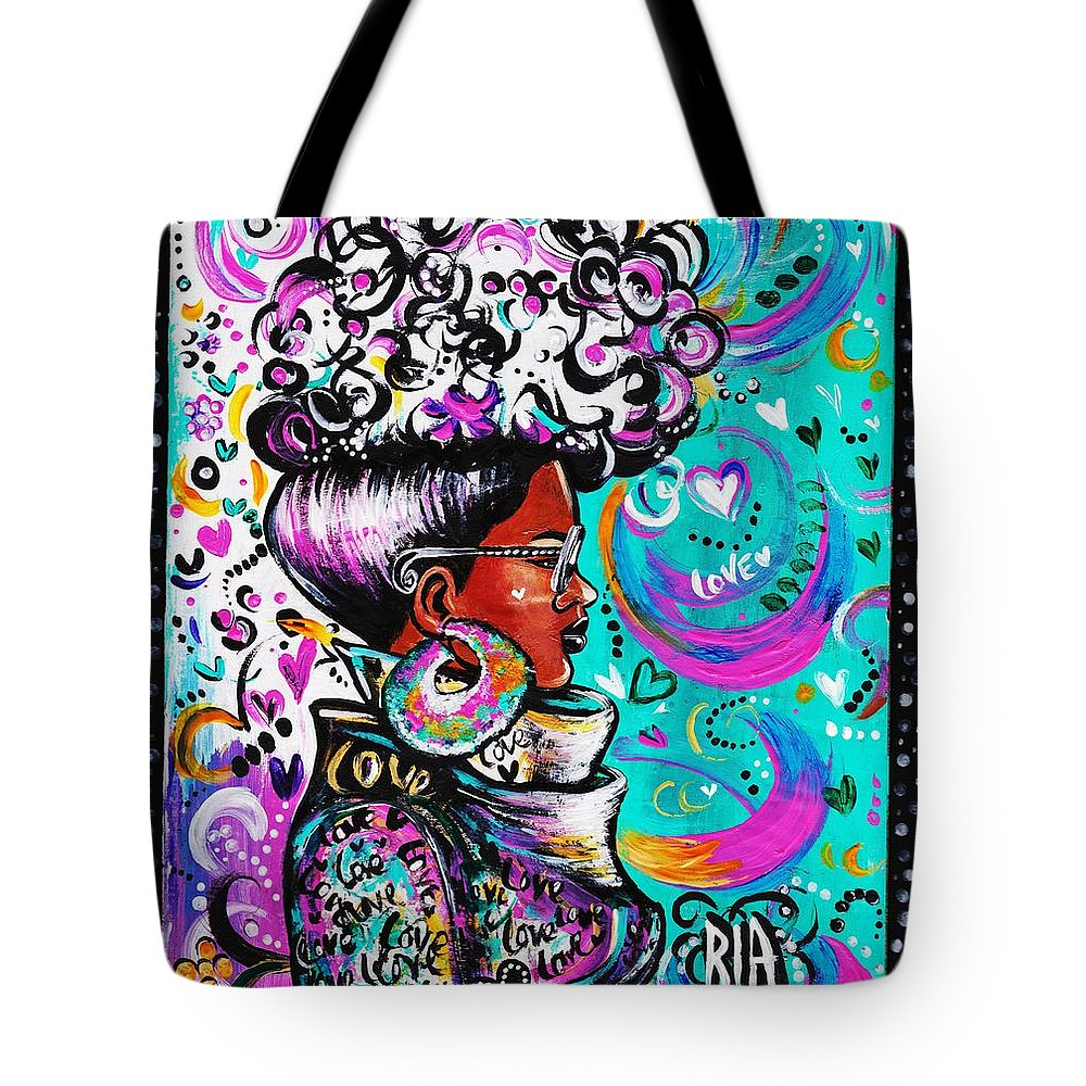 Afro Tote Bag featuring the photograph Lovely by Artist RiA