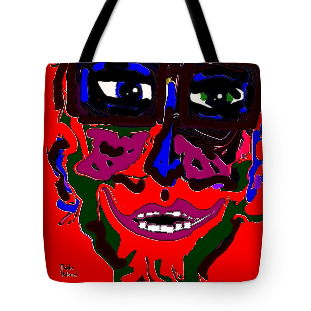 Expressionism Tote Bag featuring the mixed media Lover Boy by Natalie Holland
