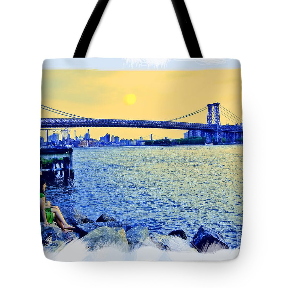 Man Tote Bag featuring the photograph Lovers On The Rocks by Madeline Ellis
