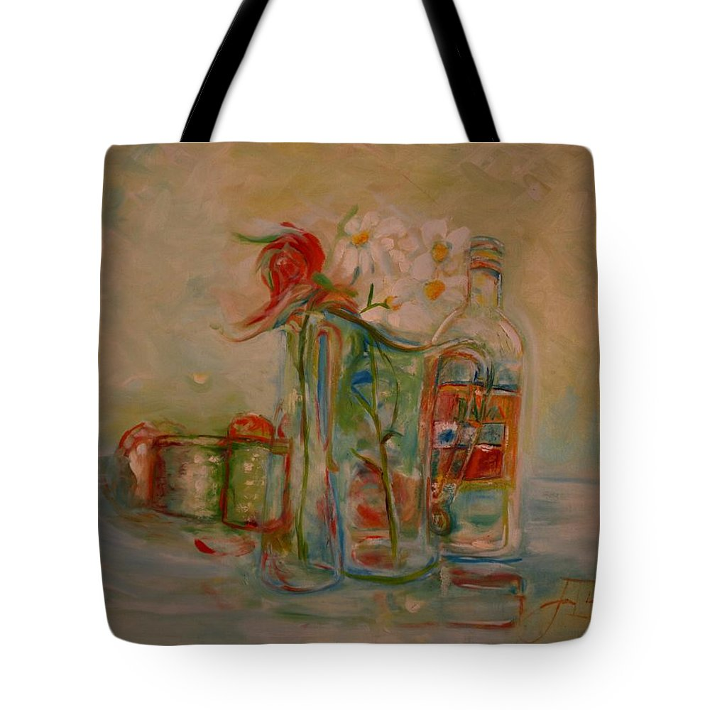 Rose Tote Bag featuring the painting Lovers Picnic by Jack Diamond