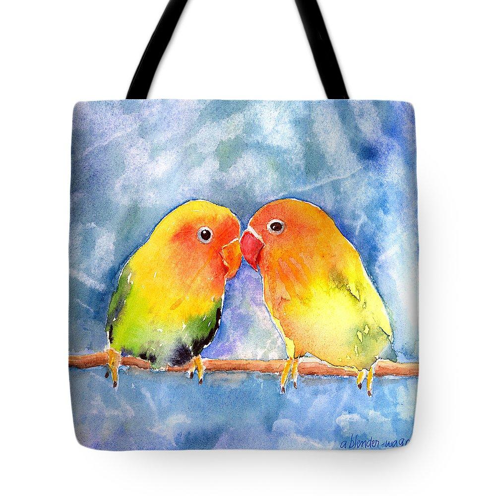 Lovebird Tote Bags