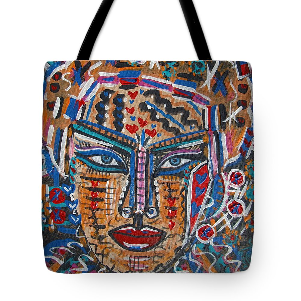 Abstract Tote Bag featuring the painting Loviola by Natalie Holland