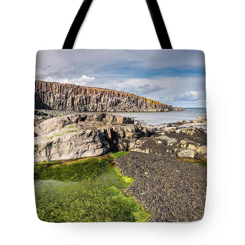Northumberland Tote Bag featuring the photograph Low Tide At Cullernose Point by David Head