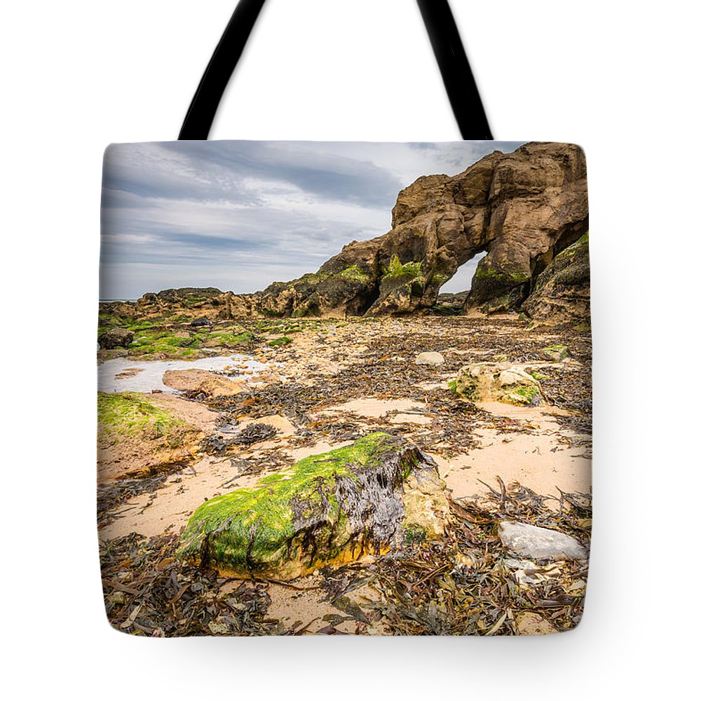 Bay Tote Bag featuring the photograph Low Tide At Saddle Rocks by David Head
