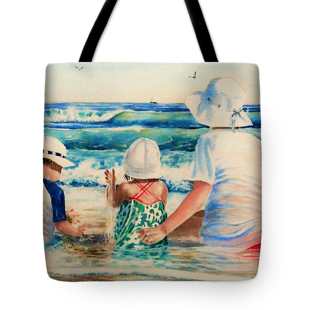 Beach Tote Bag featuring the painting Low Tide by Tom Harris