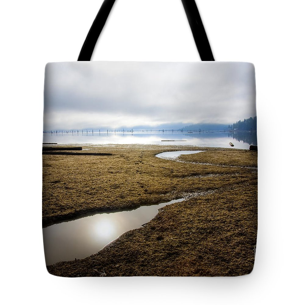Wtaer Tote Bag featuring the photograph Low Water by Idaho Scenic Images Linda Lantzy