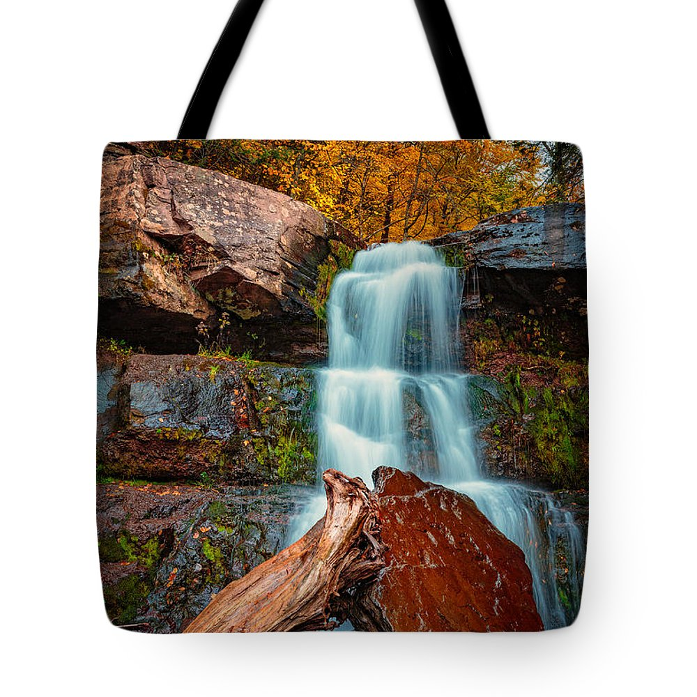 Autumn Tote Bag featuring the photograph Lower Falls At Kaaterskill by Rick Berk