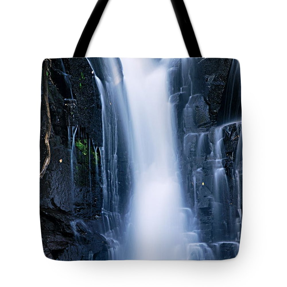 Boundary Waters Canoe Area Wilderness Tote Bag featuring the photograph Lower Johnson Falls 3 by Larry Ricker