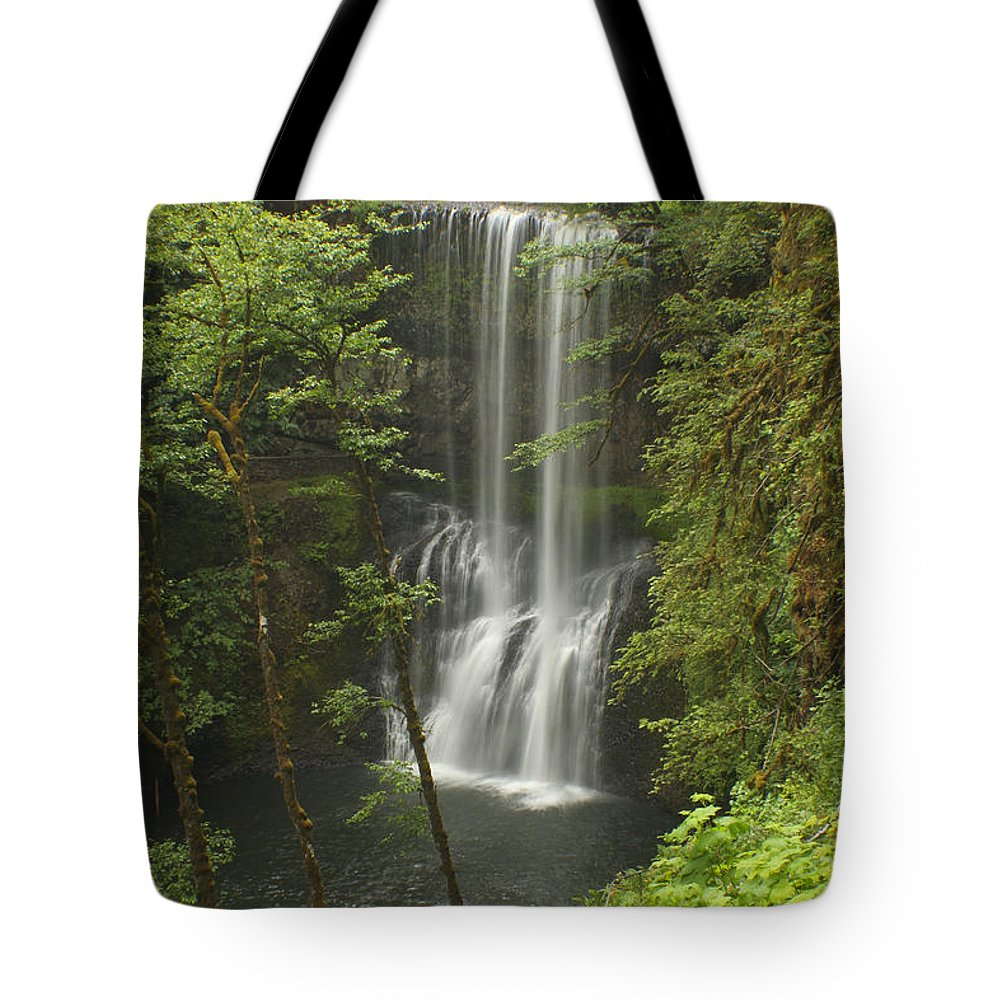 Silver Falls Tote Bag featuring the photograph Lower South Falls by Idaho Scenic Images Linda Lantzy