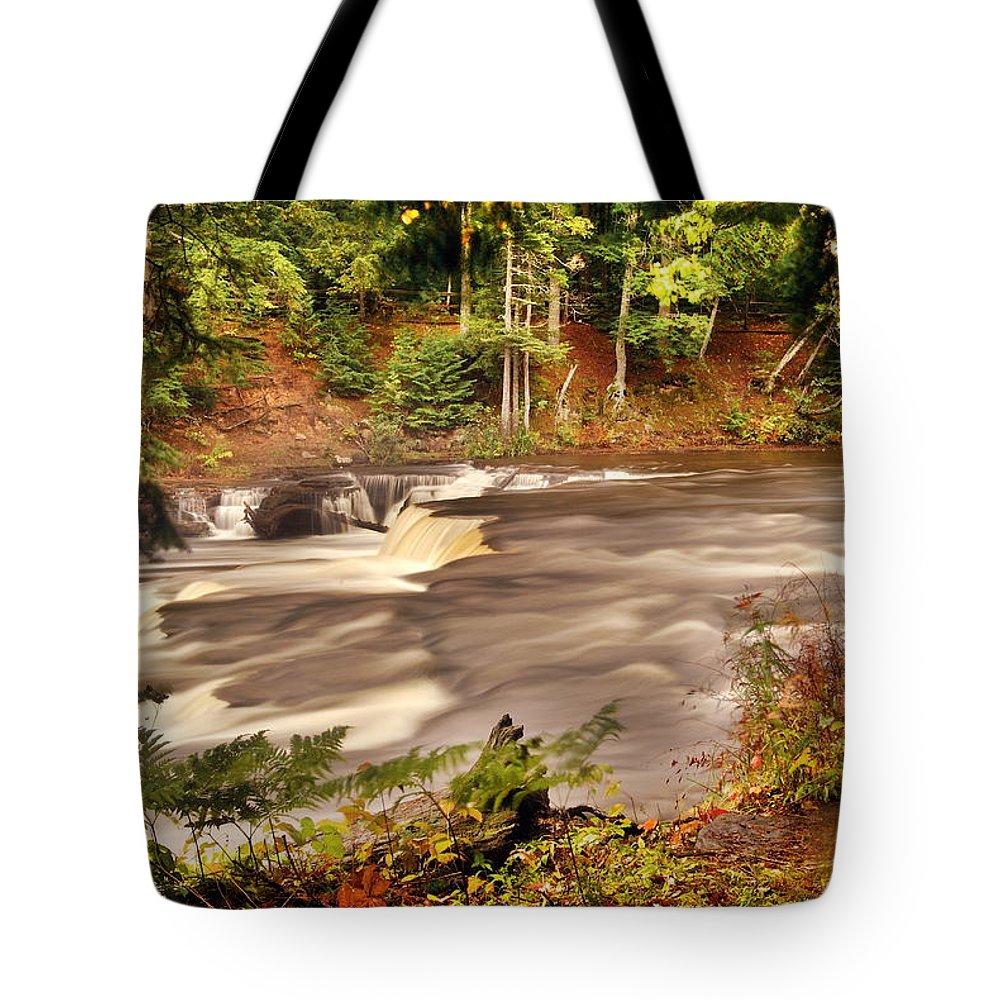 Tahquamenon Falls Tote Bag featuring the photograph Lower Tahquamenon Falls 1 by Michael Peychich