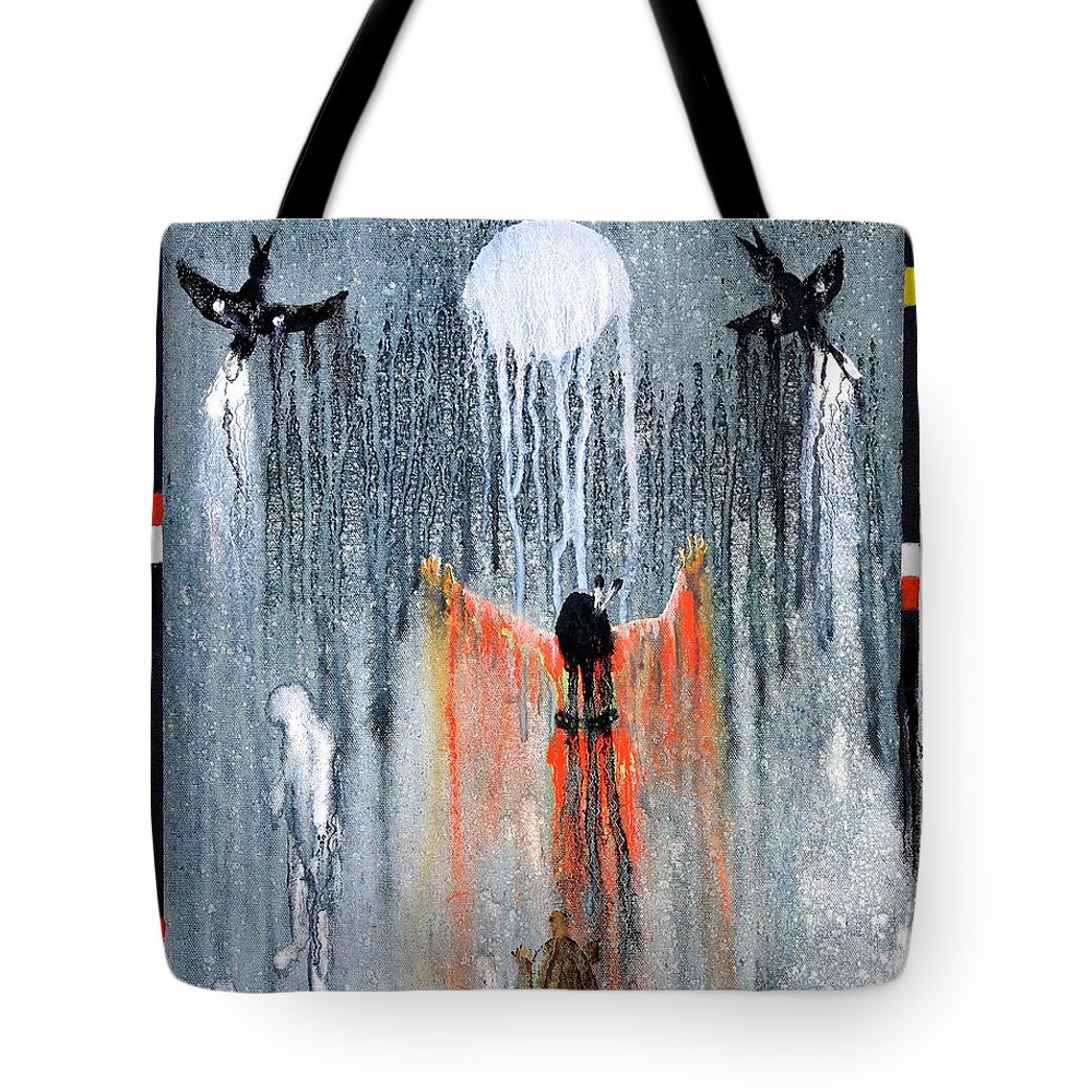 Art Tote Bag featuring the painting Lozen by Patrick Trotter