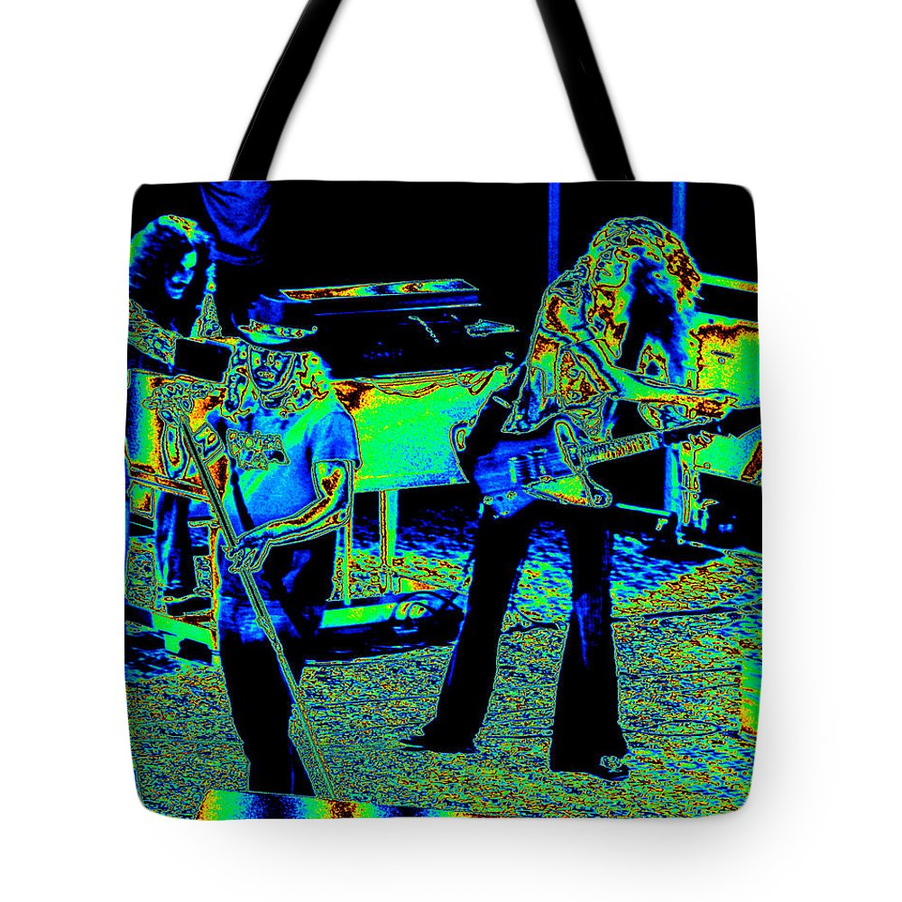 Lynyrd Skynyrd Tote Bag featuring the photograph Ls #40 Enhanced Cosmically by Ben Upham