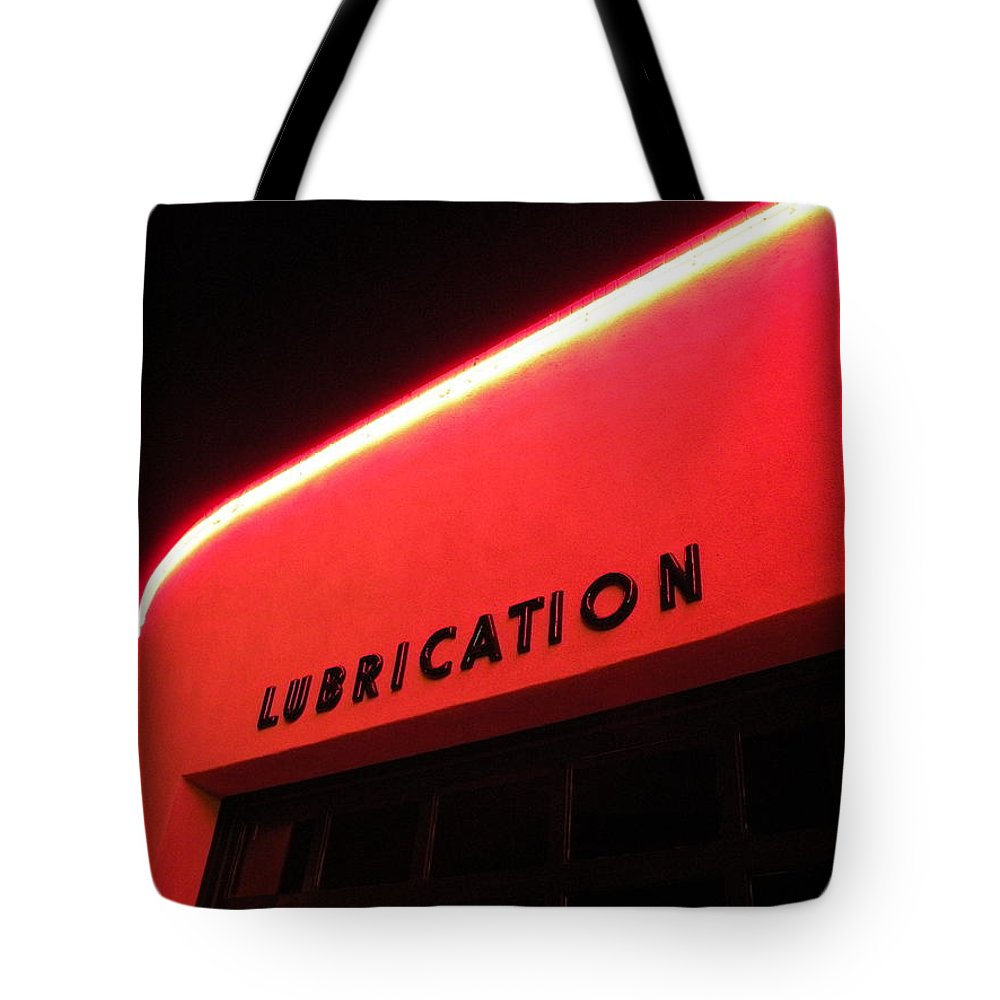 Lubrication Tote Bag featuring the photograph L U B R I C A T I O N by M Pace