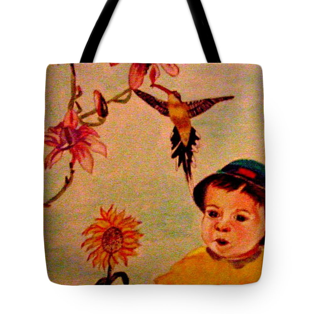 France Tote Bag featuring the painting Lucas Le Petit Tournesol by Rusty Gladdish