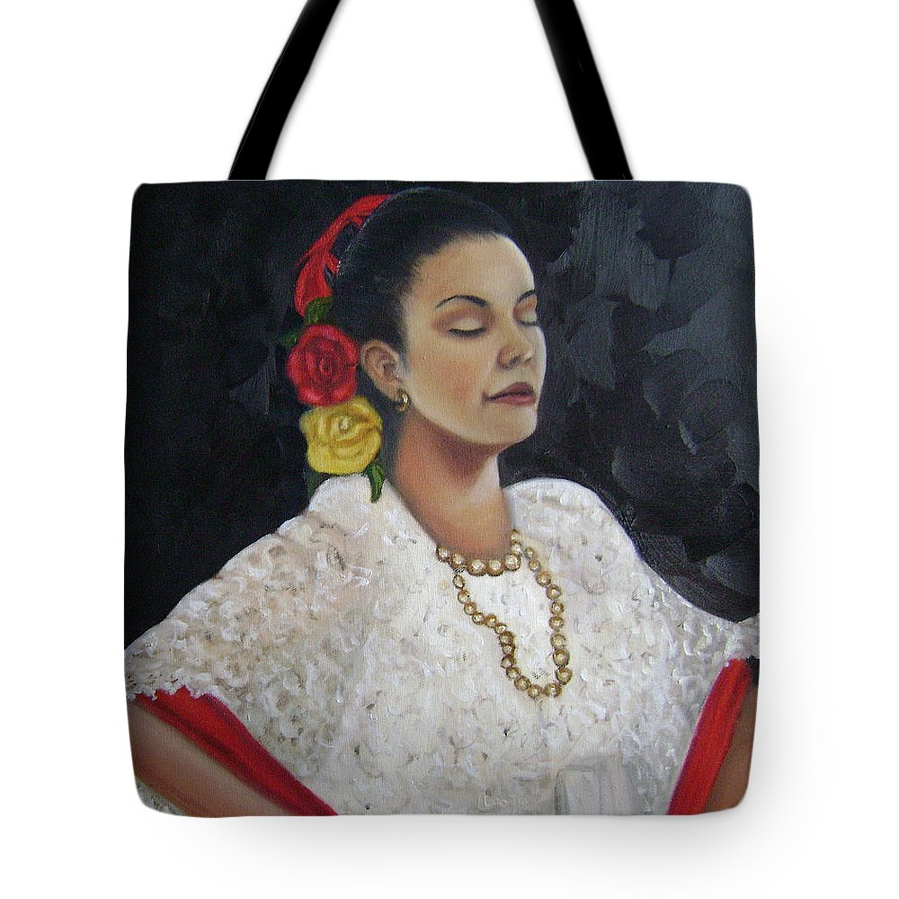 Tote Bag featuring the painting Lucinda by Toni Berry