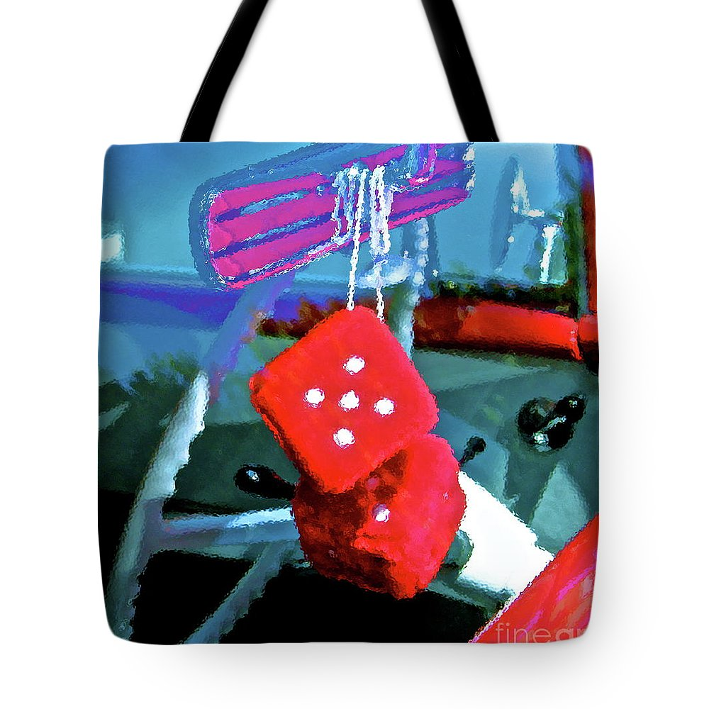 Dice Tote Bag featuring the photograph Lucky 5 by Gwyn Newcombe