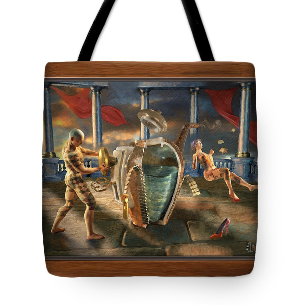 Tote Bag featuring the mixed media Lucky Chance by Art Z