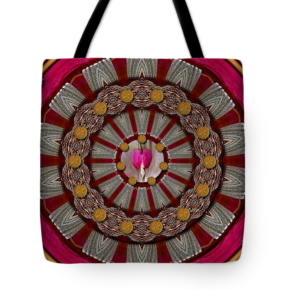 Bleedinghearts Tote Bag featuring the mixed media Lucky Clover For Good Luck by Pepita Selles